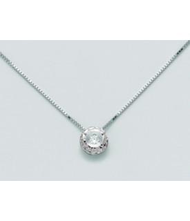 Collana con diamanti 0,07 ct