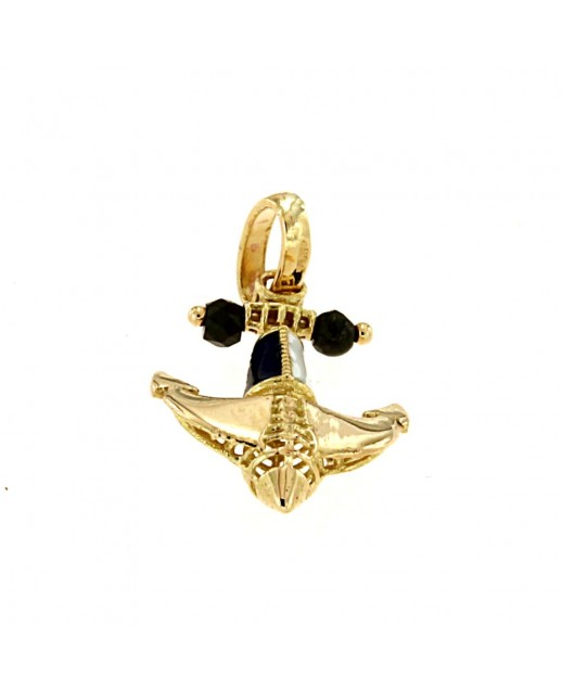 Medaglia Ancora in Oro giallo