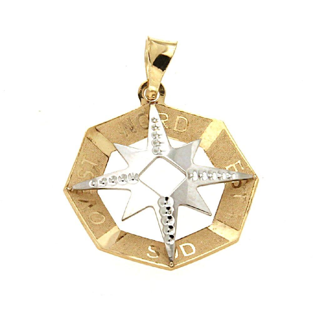 Medaglia Rosa dei Venti in Oro bianco e giallo