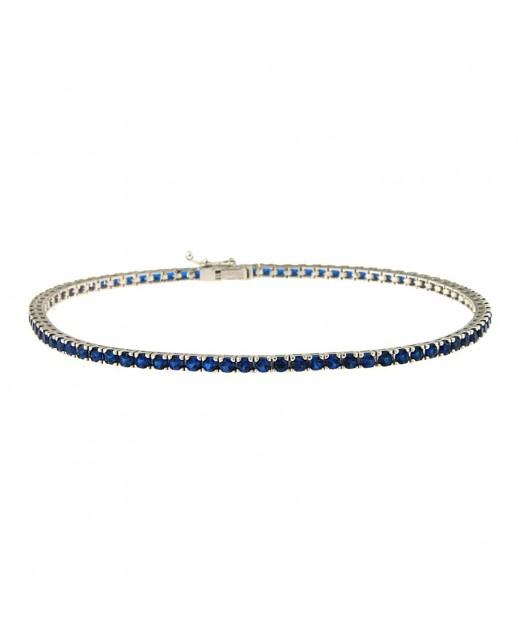 Bracciale in Oro bianco e Tormalina blu
