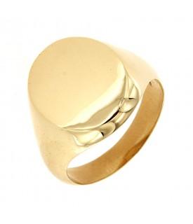 Anello Oro Giallo forma ovale