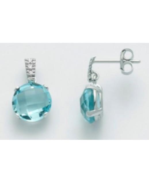 Orecchini con Topazi e diamanti 0,03 ct