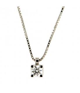 Collana con diamante 0,27 ct