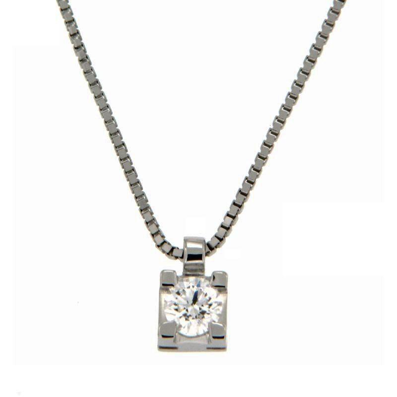 Collana con Diamante 0,24 ct