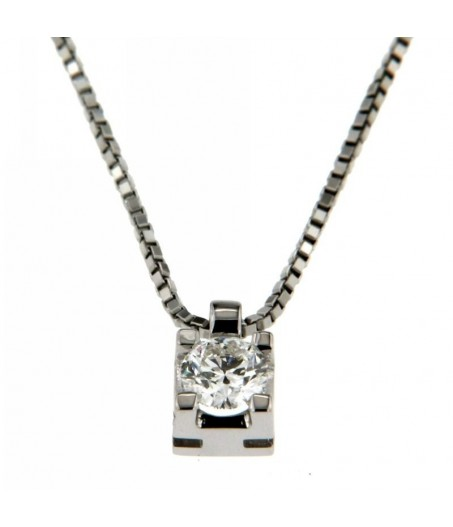 Collana con Diamante 0,25 ct