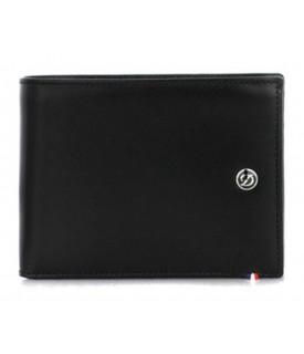 D-Line portafoglio nero 6 carte di credito