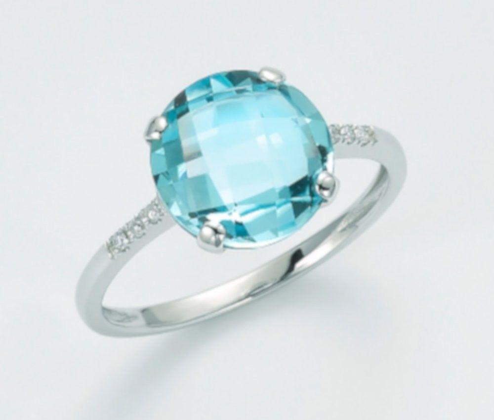 Anello Topazio e diamanti 0,03 ct