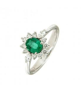 Anello con Smeraldo 0,53 ct...