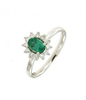 Anello con Smeraldo 0,55 ct...