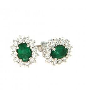Orecchini con smeraldi 0,87...