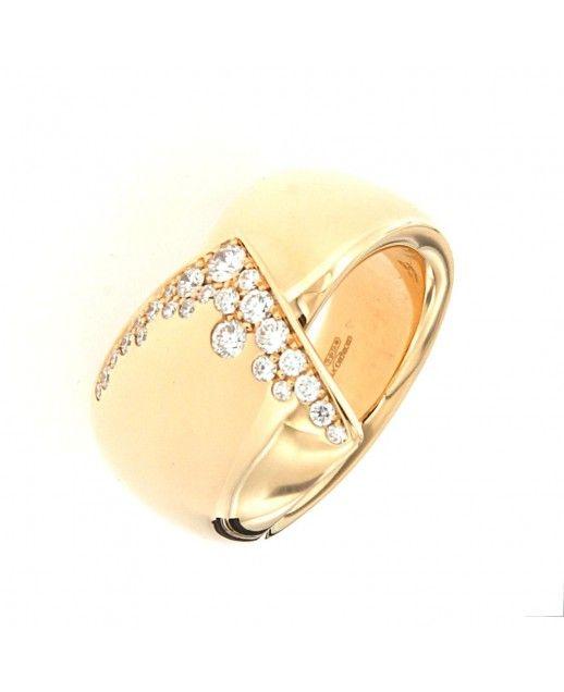 Anello Bizarre oro Rosa e Diamanti 0,51 ct