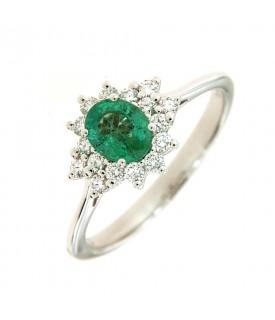 Anello con Smeraldo 0,66 ct...