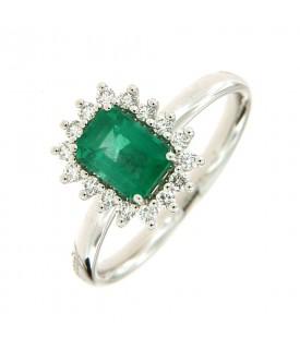 Anello con Smeraldo 0,88 ct...