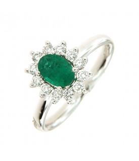 Anello con Smeraldo 0,73 ct...