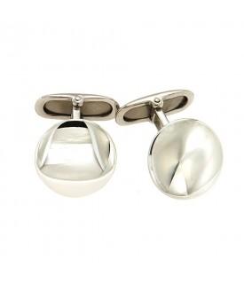 Gemelli rotondi in argento