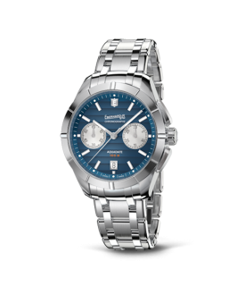 Aquadate Chrono quadrante blu