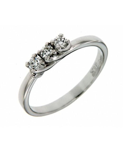 Anello Trilogy Diamanti 0,25 ct