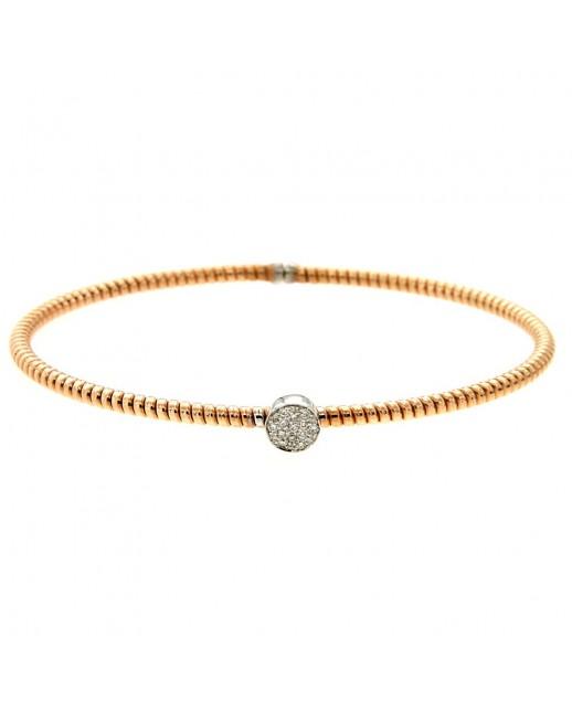 Bracciale oro rosa e diamanti 0,10 ct