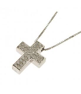 Ciondolo Croce con Diamanti...