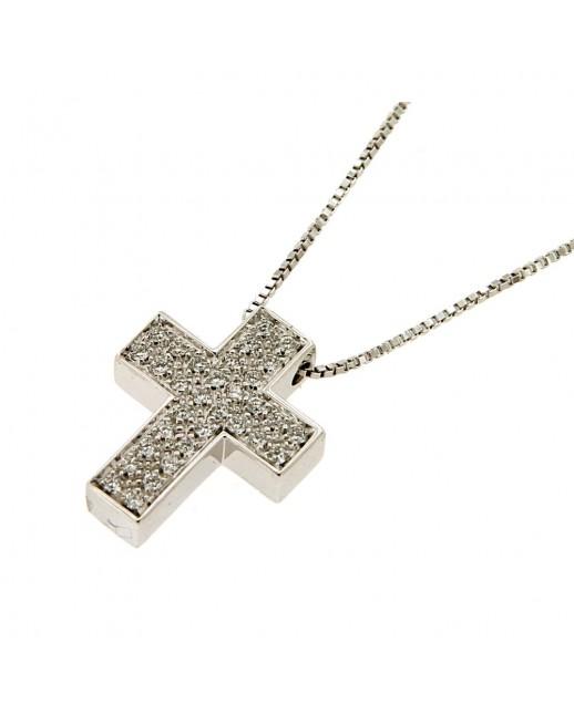 Ciondolo Croce con Diamanti 0,29 ct