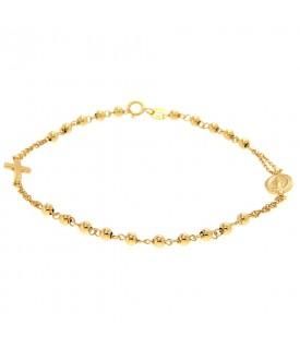 Bracciale rosario in oro...