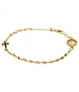 Bracciale rosario oro...