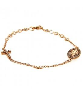 Bracciale rosario oro rosa...