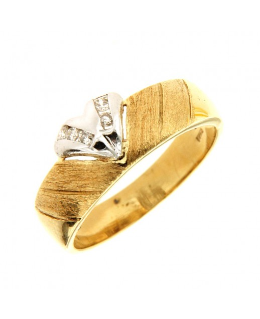 Anello oro giallo con diamanti 0,08 ct