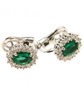 Orecchini con smeraldi 1,32...