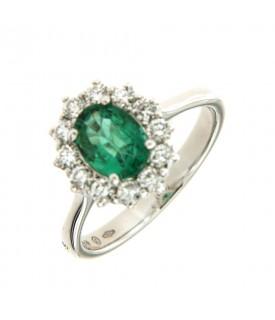 Anello con smeraldo 0,97ct...