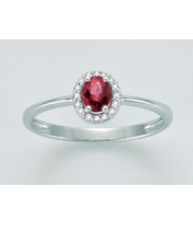 Anello Rubino e diamanti...
