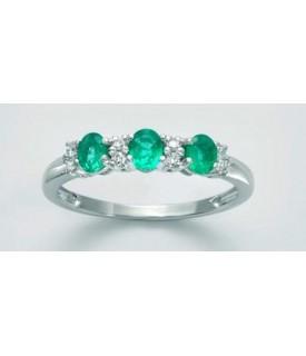Anello Smeraldi e diamanti...