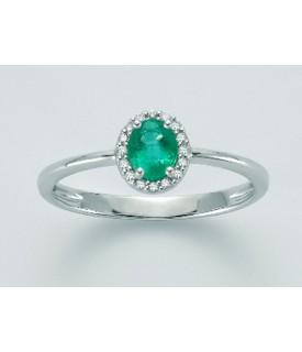 Anello Smeraldo e diamanti...
