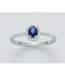 Anello Zaffiro e diamanti...