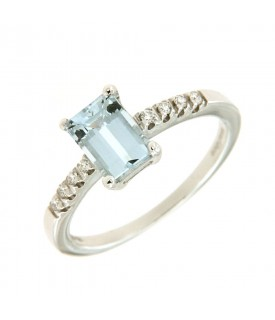 Anello Acquamarina 0,97ct e...