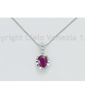 Collana con Rubino e diamanti