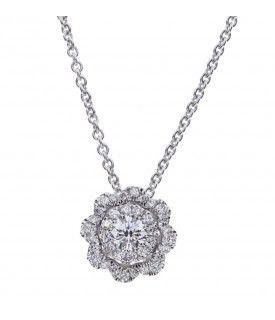 Girocollo Camelia diamanti...