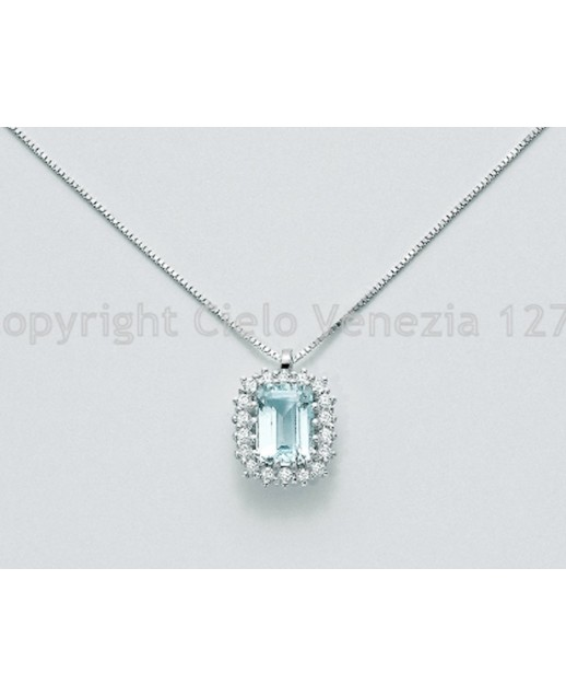 Girogola con Acquamarina e diamanti
