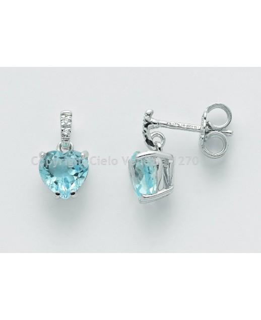 Orecchini con Topazi e diamanti 0,156 ct