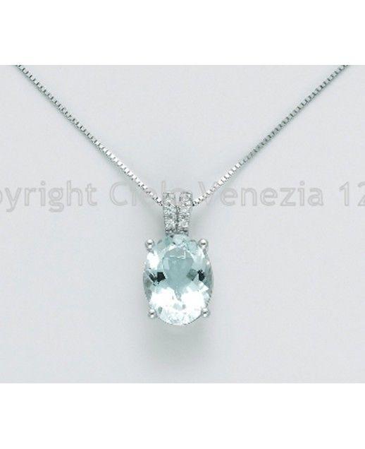 Girogola Acquamarina e diamanti