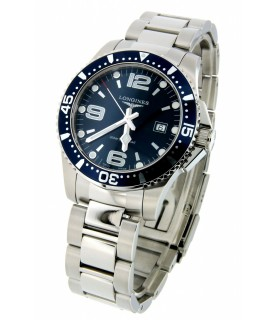 Hydroconquest quarzo 39mm blu