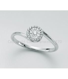 Anello diamanti 0,094 ct