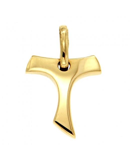 Ciondolo Croce Tao Oro giallo