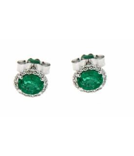 Orecchini con smeraldi...