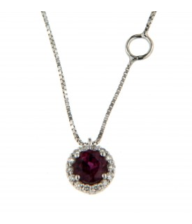 Collana rubini e diamanti