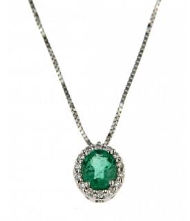 Collana smeraldi e diamanti