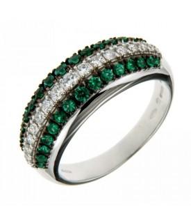 Anello Diamanti e Smeraldi