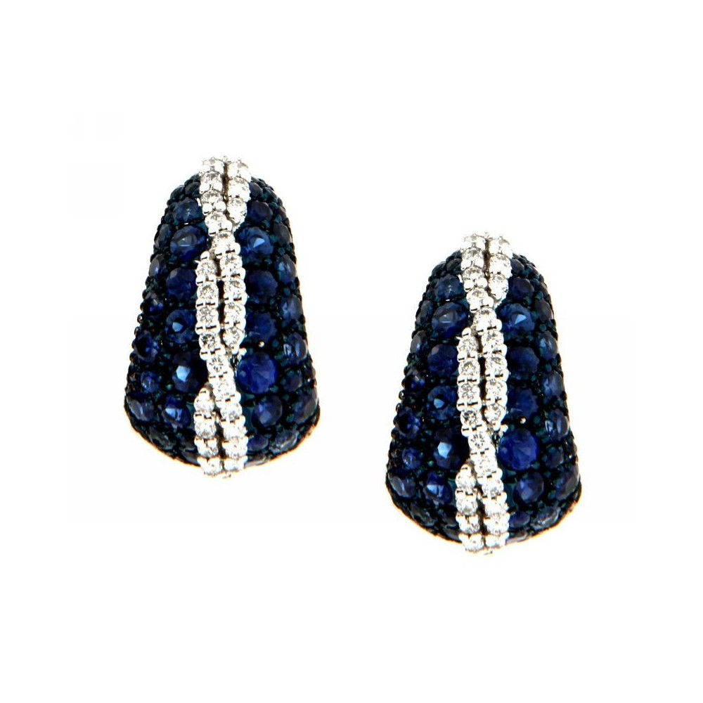 Orecchini Zaffiri Diamanti