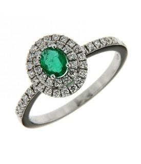 Anello Diamanti Smeraldo
