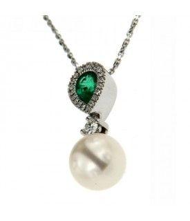 Girogola Diamanti Smeraldo Perla